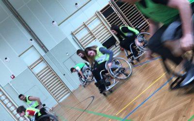 Maturanten besuchten Rollstuhlbasketball-Trainingseinheit